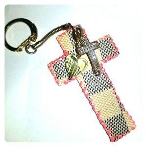 Recycled designer material purse charms